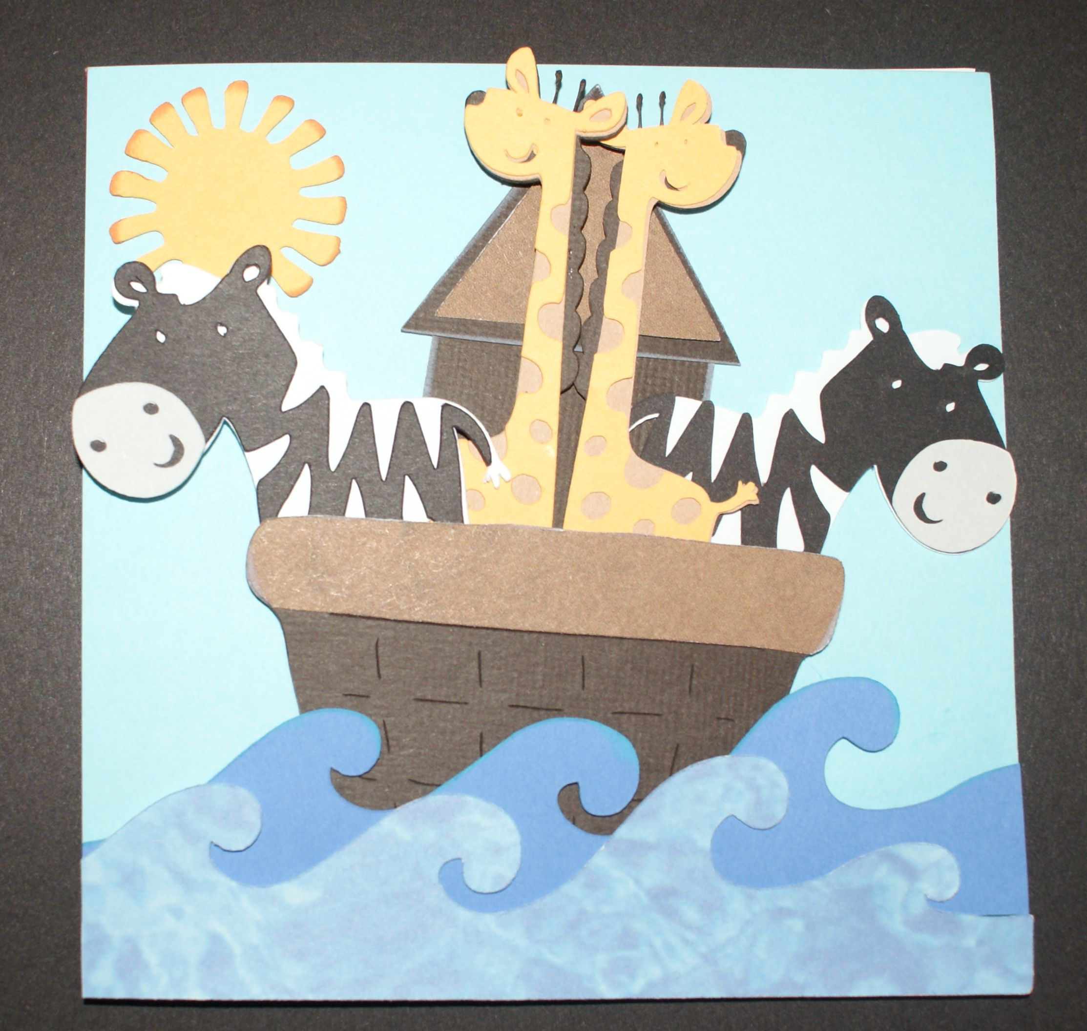 Noah's Arc Christening Card