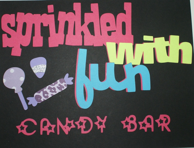 Sprinkled with Fun Candy Bar Sign